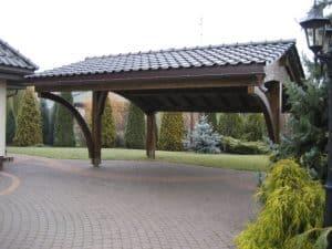 wiaty samochodowe drewno konstrukcyjne
